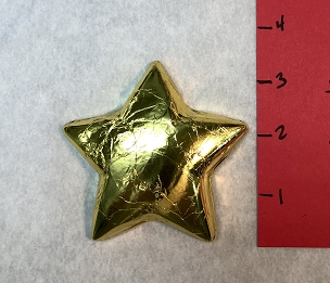 Large Gold Foiled Star