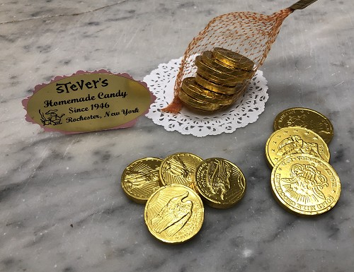 Mesh Bag of Chocolate Coins